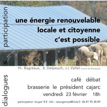 Café-débat à Cajarc le 23 février