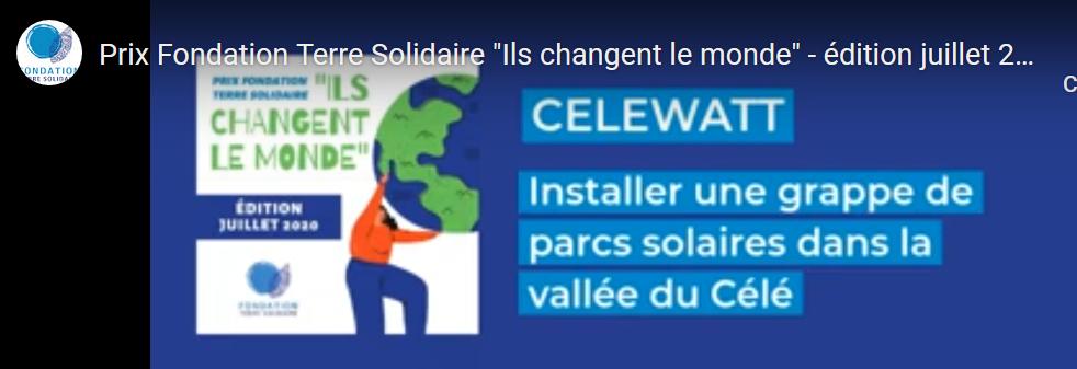 CéléWatt, lauréat du prix «Ils changent le monde»